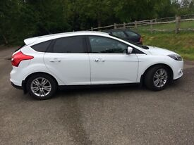 Pristine Ice White Ford Focus, Manual, diesel, 22000 miles