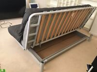 Double Futon Metal Sofa Bed With Mattress and Cover For Sale - *Great Condition Barely Used*