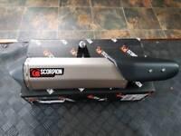 KTM 1190 Adventure titanium scorpion exhaust tail can