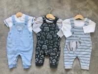 3 - 6 month Baby dungarees bundle