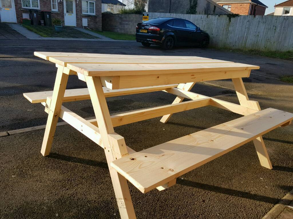Wooden picnic table | in Llanrumney, Cardiff | Gumtree