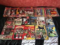 Manchester United Programmes, Magazines, Annuals and Book