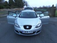 08 Seat Leon - 1.6 - 2 Remote Keys- 5 Door - Manual - Starts Every Time - Ideal 1st Car