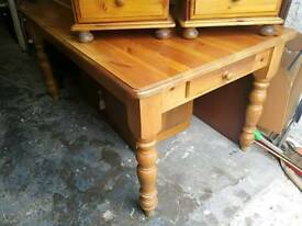 Country cottage pine dining table
