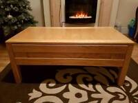 High quality timber coffee table.