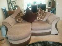 Dfs chaise sofas, one 4 seater and large 2 seater