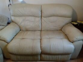 I'm selling my 2 X 2 Cream Leather Manually Reclining Sofas £500 for both