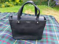Osprey black leather handbag