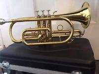 Cornet, Brass - Echo, great condition!