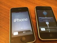 2 x Apple iPhone 3 (one 3GS 16gb - one 3G 8gb)