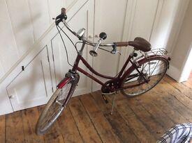Vintage style ladies red bobbin bike