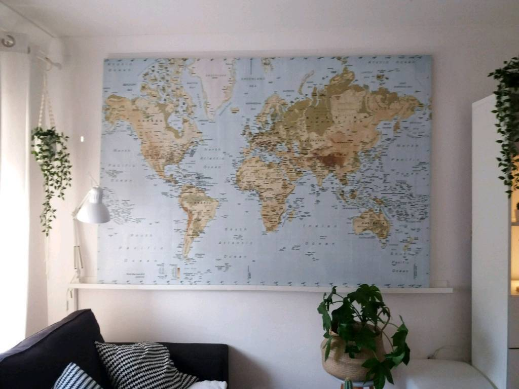 Large ikea premiar world map rare 200cmx140cm in luton large ikea premiar world map rare 200cmx140cm gumiabroncs Image collections