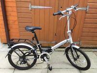 Two Apollo Transition Folding Bikes - Black & Silver
