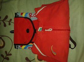Rainbows hoodie and rucksack.