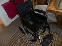 Invacare Ben NG TR 15 x 16 Attendant Folding wheelchair