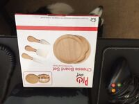 New boxed unused Cheese board set for sale in Cardiff.