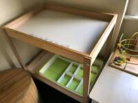 Baby Changing Table and Organiser - Ikea Snigler