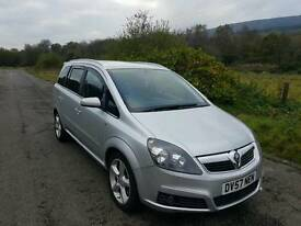 Vauxhall zafira diesel sri 150 7seater px welcome