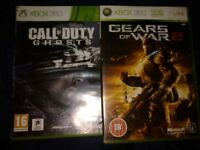 Xbox 360 games ghosts and gears of war 2