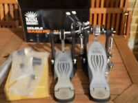 natal pro lefty double bassdrum pedal new