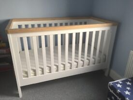 Mother Care Baby Cot and Drawers
