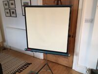 Mid century folding projector screen