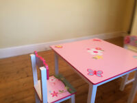 Wooden Butterfly Table and Chairs Set