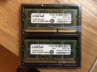 8GB RAM memory upgrade for macbook by Crucial