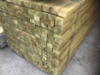 Timber rails 75x47mm Pressure Treated green
