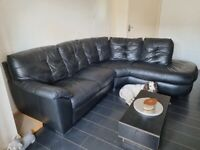 Large black DFS corner sofa
