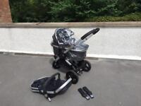 icandy peach jogger, 3 wheel pushchair