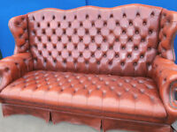 Unique chesterfield large 3 seater bench sofa (Delivery)