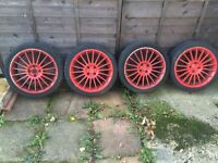 "17"" vauxhall alloys grate tyres"