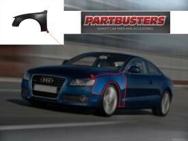 Audi A5 2008 - 2017 Front Wing Passenger Side Left New Primed Aluminium