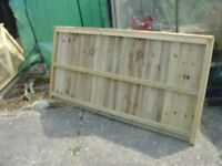 3 OFF 6X6 FEATHER EDGE PREASURE TREATED FENCE PANELS