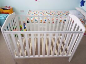 Mothercare Cot and mattress 120/60