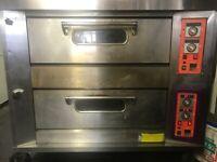 Big pizza baking oven