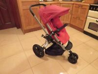 Quinny Buzz Baby Pushchair In Red Rumour & Silver Frame