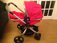 Mothercare Orb pushchair, Maxi cosi car seat and clips (good condition)