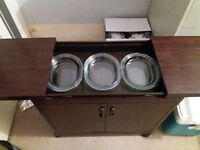 Phillips Hostess Trolley Complete with Glass Serving Dishes