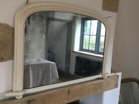 Antique over mantle mirror
