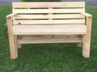 New Wooden Bench