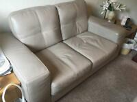 2 Year old Sofology leather sofa and 2 matching leather chairs