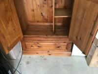 Solid wood hand made wardrobe