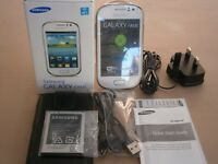 Samsung Galaxy Fame Smart Phone. And nearly new wallet case.