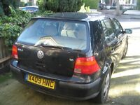 2001 Golf 1.6 Auto, very low mileage, MOT till 24/1/17, spares repair, no reverse, priced to sell