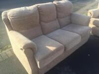 Two Good condition standard size three seater Florence Furniture village sofas bought in 2012.