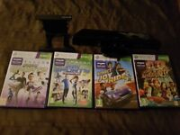 Xbox 360 Kinect with Stand and 4 Games