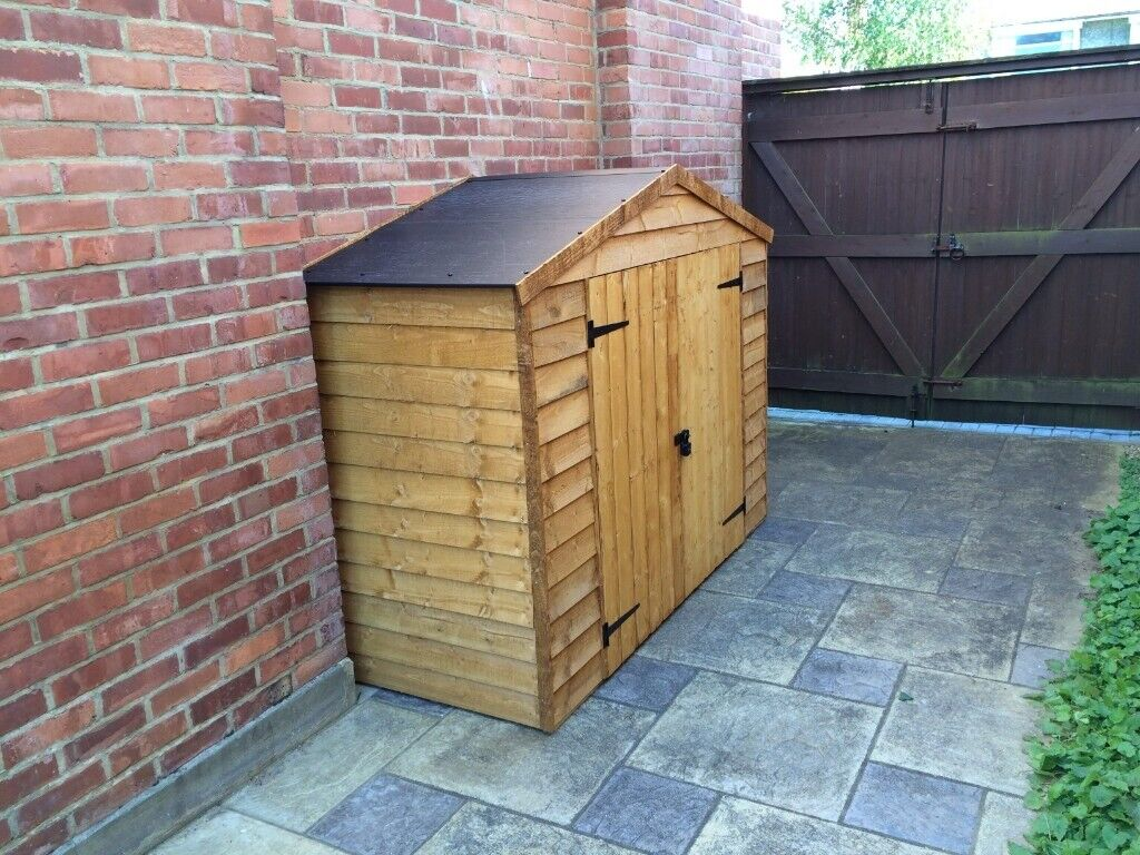 Bike Shed Hardly Used Easy Fit Plastic Apex Roof No