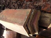 Reclaimed Terracotta V Ridge Tiles 5 x Whole and 1 x 3/4 - 17""